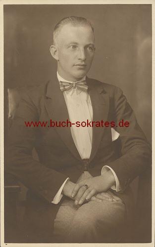 Foto-Postkarte Junger Mann aus Lichtenberg / Sachsen (1923)