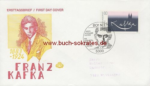 Briefumschlag Ersttagsbrief Franz Kafka 1883-1924