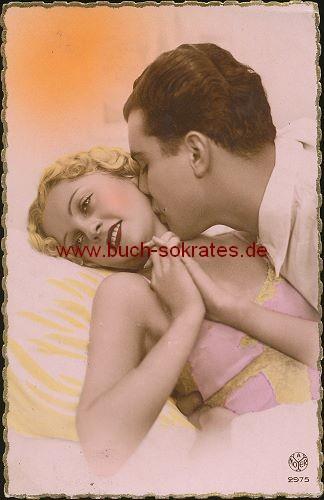 Ansichtskarte Liebespaar Liebe Kuss