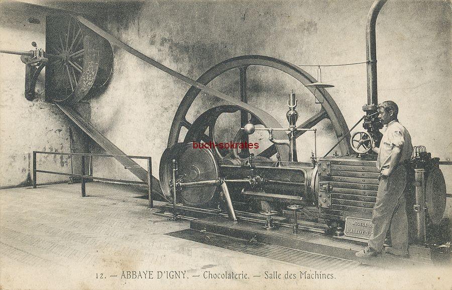 Foto Abbaye D Igny (Arcis-le-Ponsart): Chocolaterie - Salle des Maschines / Schokoladenfabrik - Maschinenraum - Feldpost (1914)