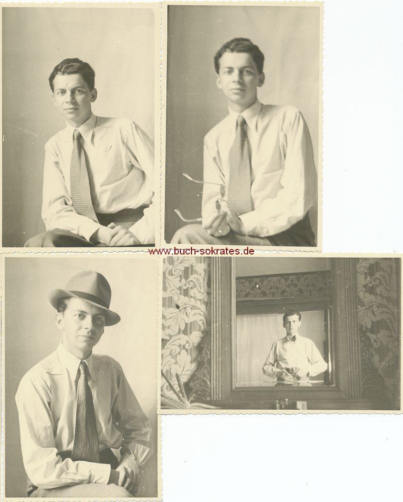 s/w-Foto-Postkarte Jude aus Wien kurz vor Emigration in die USA (1938)