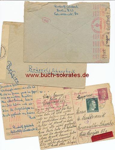 4 Dokumente Zensur Drittes Reich Geöffnet/Geprüft