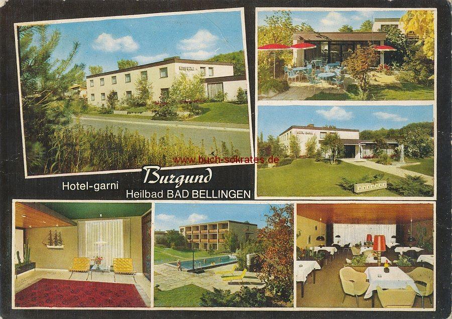 Ansichtskarte Hotel Burgund in Bad Bellingen - Heilbad am Oberrhein (1969)