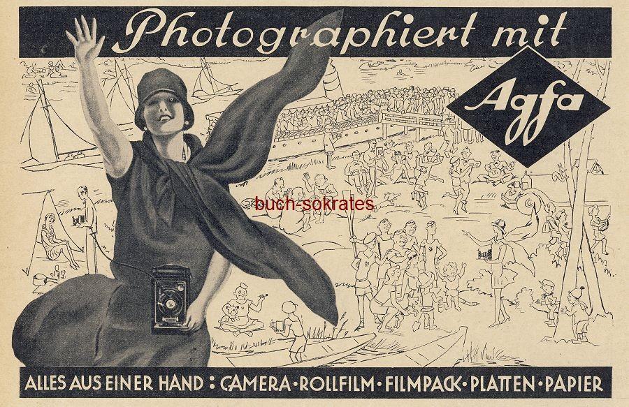 Werbe-Anzeige / Werbung/Reklame Photographiert mit Agfa - Camera, Rollfilm, Filmpack, Platten, Papier (BI28/33)