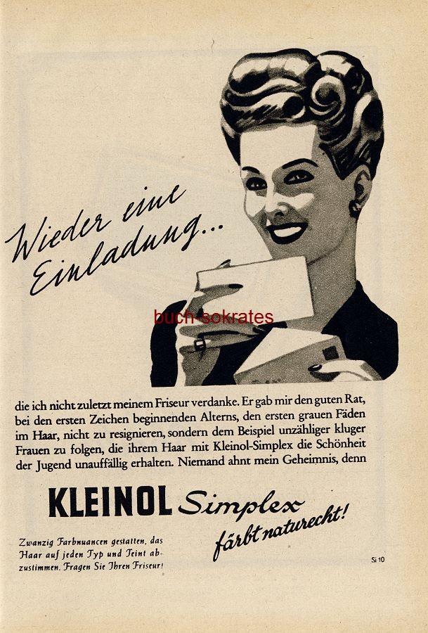 Werbe-Anzeige / Werbung/Reklame Kleinol Simplex Haarwaschmittel (RD48/11)