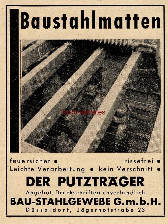 Werbe-Anzeige / Werbung/Reklame Baustahlmatten - Bau-Stahlgewebe GmbH, Düsseldorf, Jägerhofstraße 23 (BG34/18)