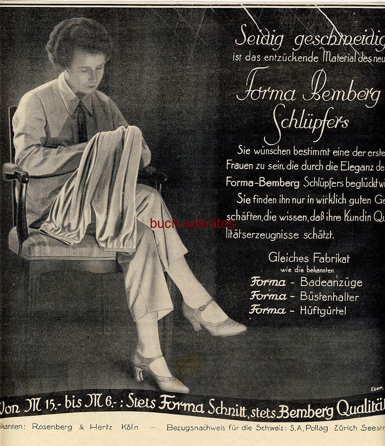 Werbe-Anzeige / Werbung/Reklame Forma Bemberg Schlüpfer - Rosenberg & Hertz, Köln (BI28/40)