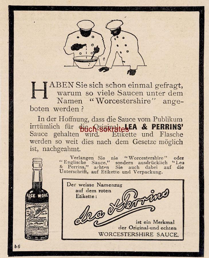 Werbe-Anzeige / Werbung/Reklame Saucen / Soßen Lea & Perrins - Worcestershire Sauce (DW13/39)