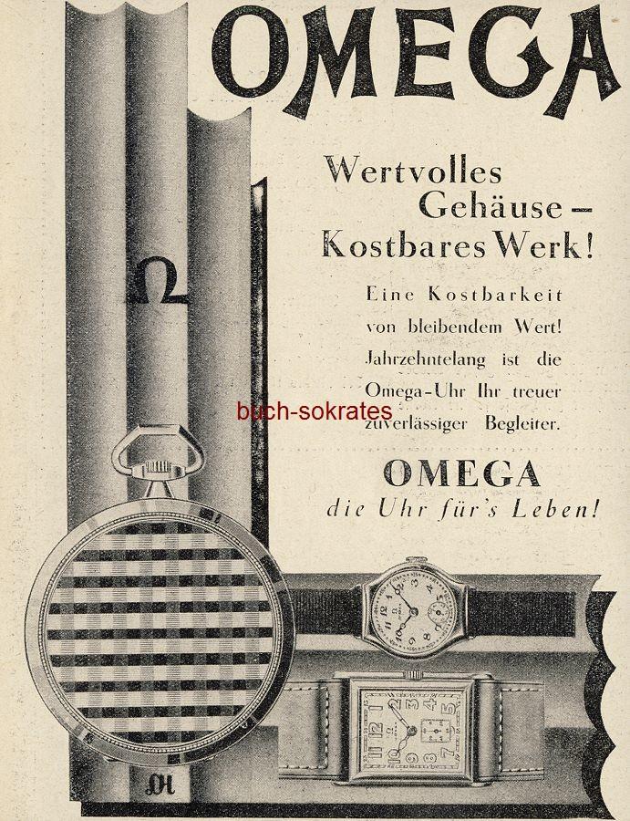 Werbe-Anzeige / Werbung/Reklame Omega Uhren - Wertvolles Gehäuse - Kostbares Werk! (BI28/38)