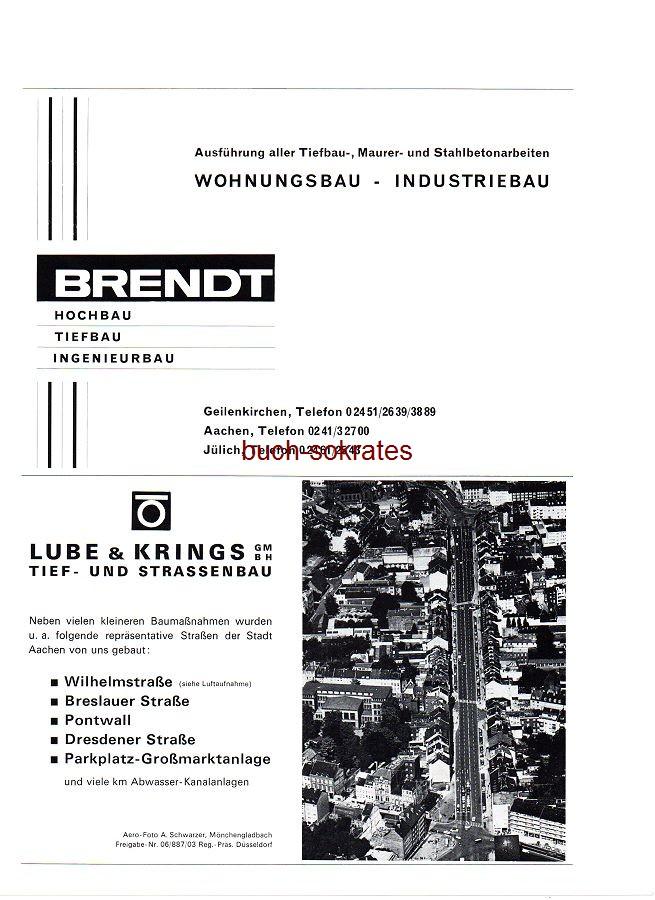 Werbe-Anzeige / Werbung/Reklame Hochbau Brendt, Geilenkirchen, Aachen, Jülich / Lube & Krings GmbH, Tief- und Straßenbau (SP70)