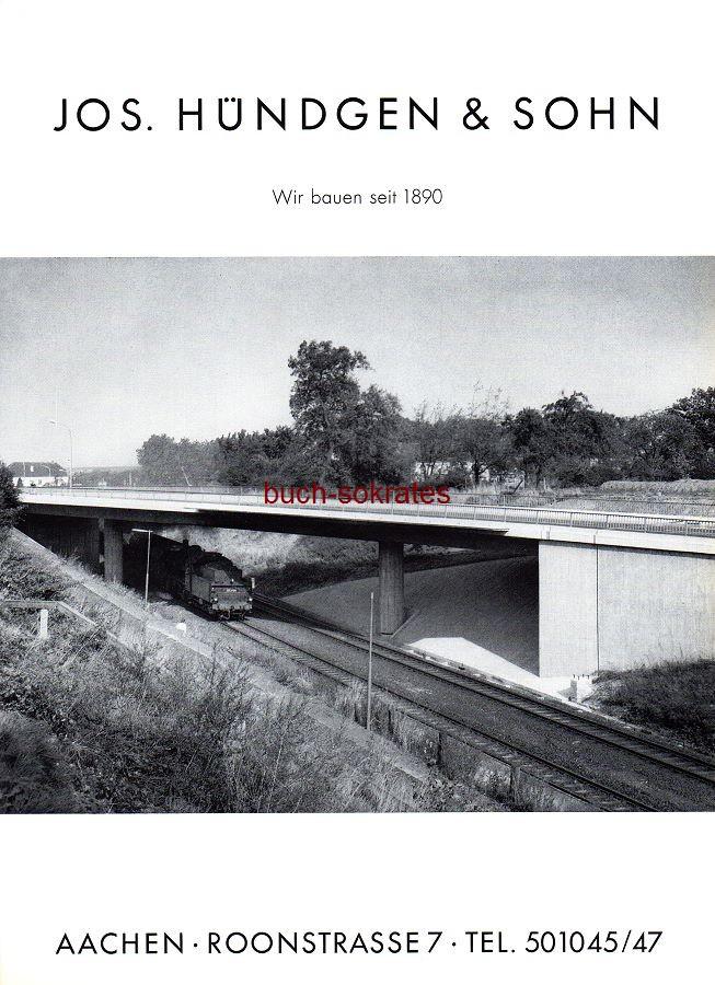 Werbe-Anzeige / Werbung/Reklame Jos. Hündgen & Sohn, Aachen, Roonstraße 7 - seit 1890 (SP70)