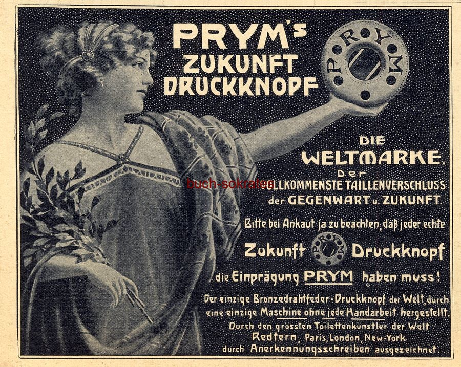 Werbe-Anzeige / Werbung/Reklame Prym s Zukunft-Druckknopf (DW09/30)