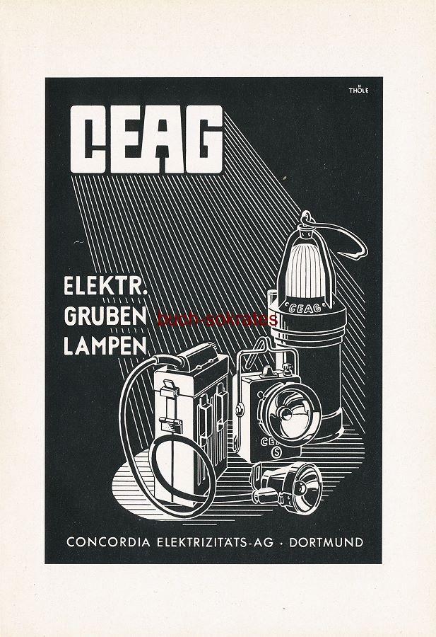 Werbung Anzeige Ceag Gruben Lampen
