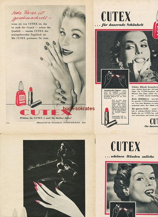 Werbe-Anzeige / Werbung/Reklame Cutex für dauernde Schönheit - Nagellack, Lippenstift (RD5257)