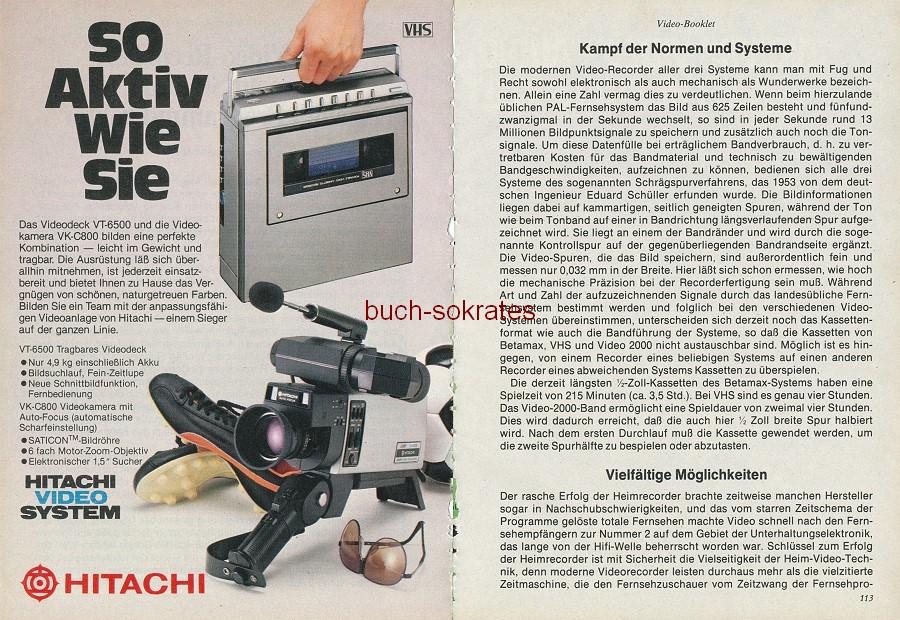 Werbe-Anzeige / Werbung/Reklame Video-Booklet -