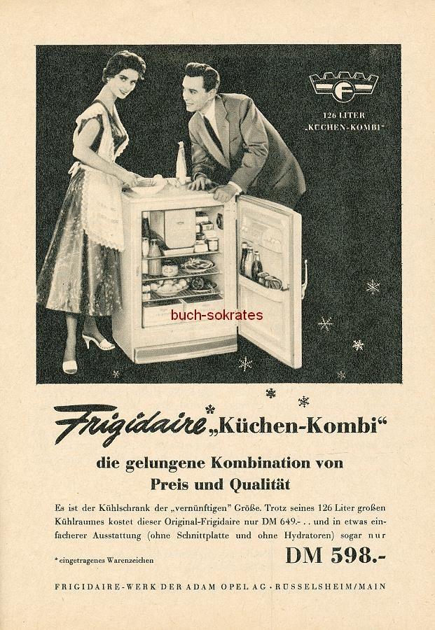werbung anzeige konvolut 7 x k hlschr nke bauknecht frigidaire bbc aeg 1955 ebay. Black Bedroom Furniture Sets. Home Design Ideas