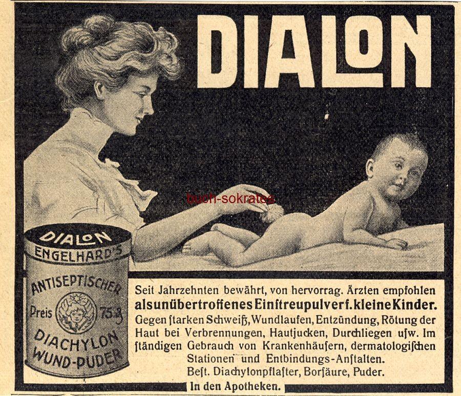Werbe-Anzeige / Werbung/Reklame Dialon Diachylon Wund-Puder (DW11/46)