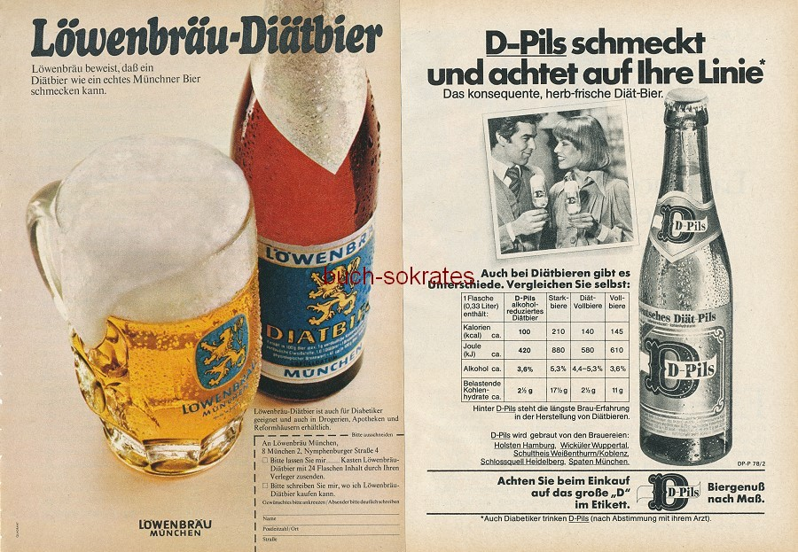 Werbung Anzeige 7 X Bier Werbung Lowenbrau Diatbier D Pils