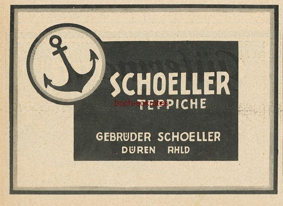 2 x Werbung Anzeige AnkerTeppiche, Schoeller Teppich