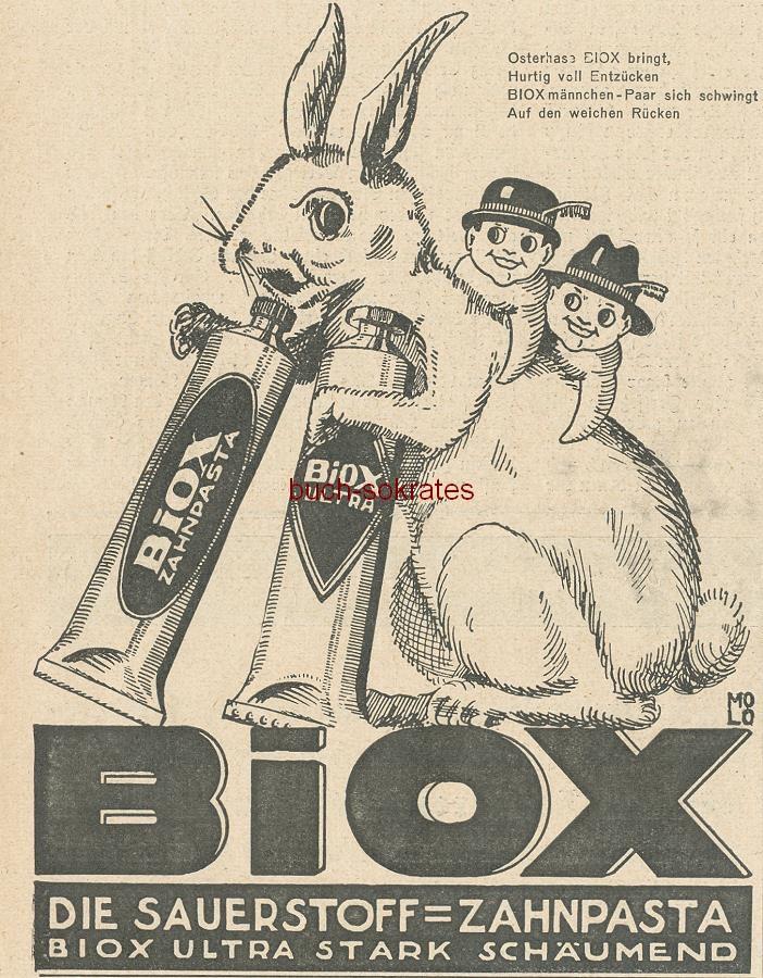 Werbe-Anzeige / Werbung / Reklame Biox - Die Sauerstoff-Zahnpasta - Biox Ultra stark schäumend (BI26/14)