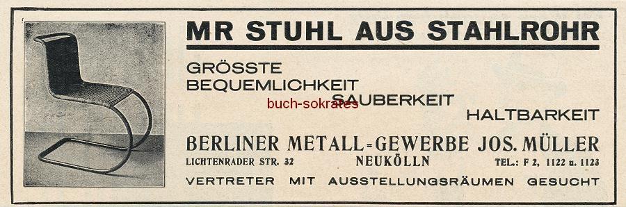 mies van der rohe berliner metall gewerbe josef m ller neuk lln. Black Bedroom Furniture Sets. Home Design Ideas