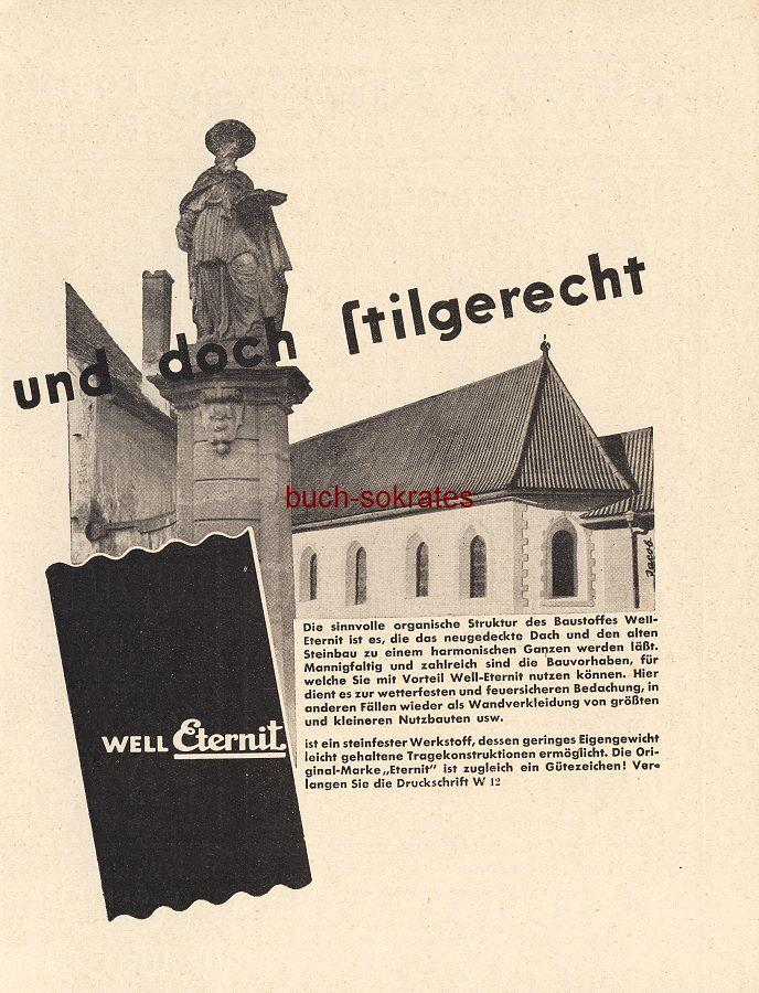Werbe-Anzeige / Werbung/Reklame Baustoff Well-Eternit (BG36/4)