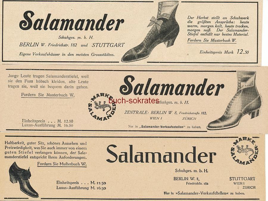 4f88fb7c794b3c Werbe-Anzeige   Werbung Reklame Salamander-Schuhe (Salamander-Schuges. mbH