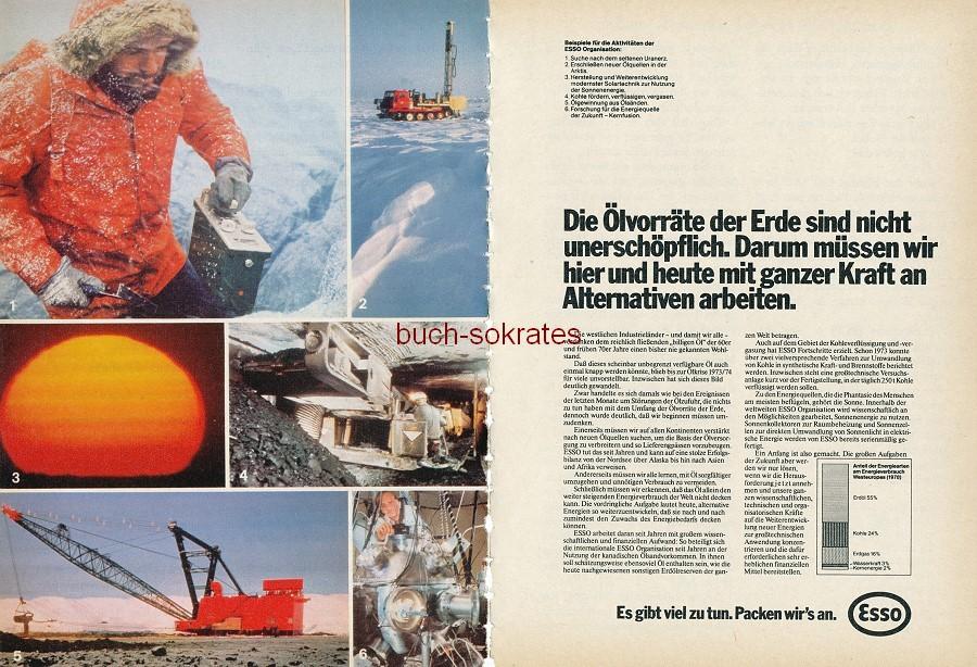 Werbe-Anzeige / Werbung/Reklame Tankstellen / Benzin / Kraftstoffe: Esso + BP (RD79/10)