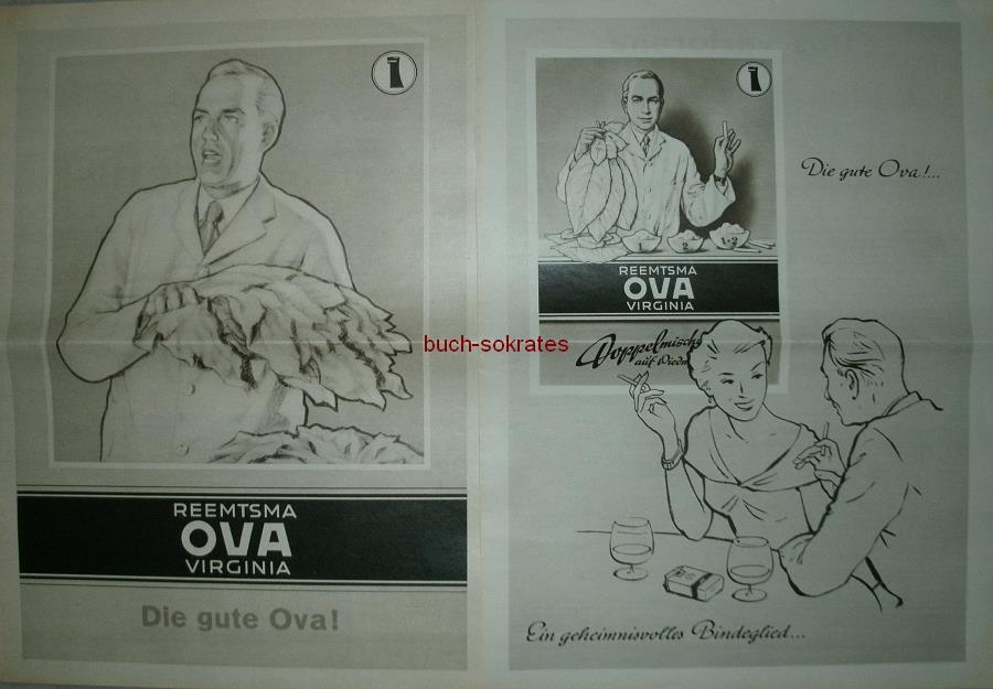 Werbe-Anzeige / Werbung/Reklame Konvolut 4 x Zigaretten-Werbung Reemtsma Ova Virginia: Die gute Ova! (IW53-54)