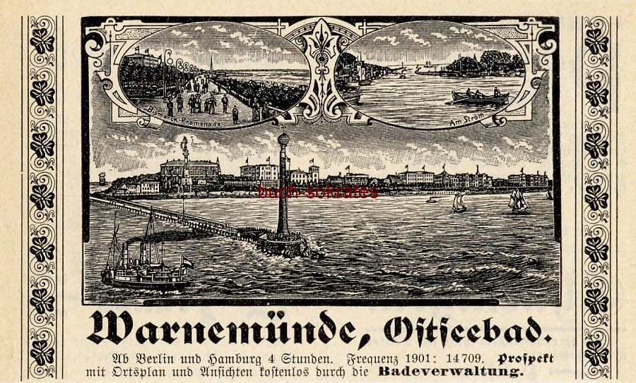 Werbe-Anzeige / Werbung/Reklame Ostseebad Warnemünde (DK03)