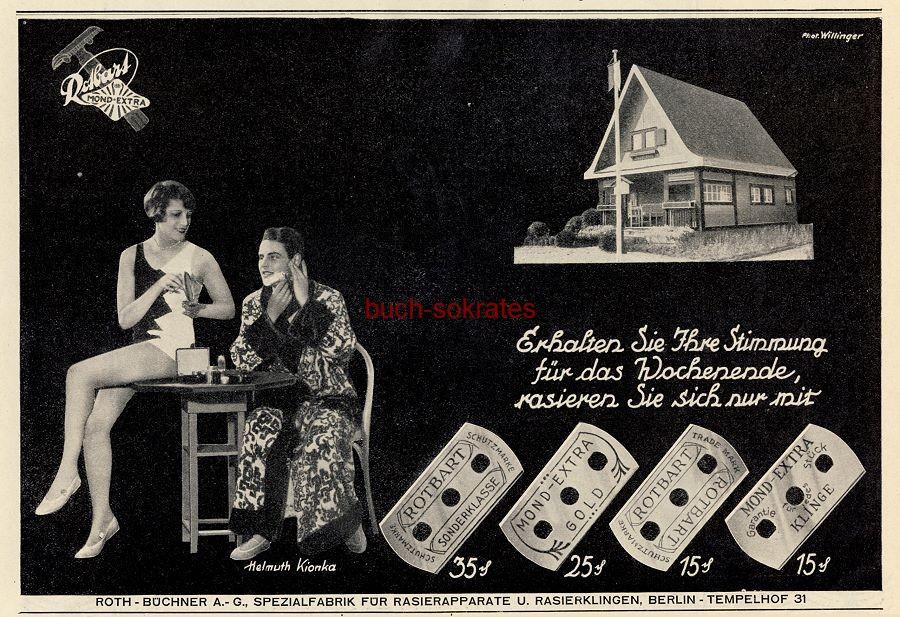 Werbe-Anzeige / Werbung/Reklame Rotbart Rasierklingen (BI28/31)