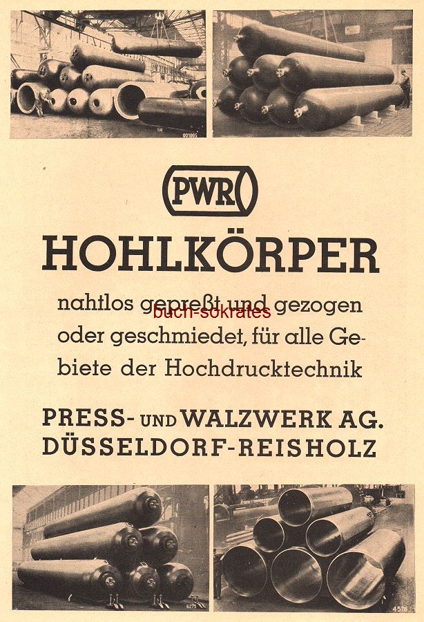 werbung anzeige pwr hohlk rper press und walzwerk ag d sseldorf reisholz 1938 ebay. Black Bedroom Furniture Sets. Home Design Ideas