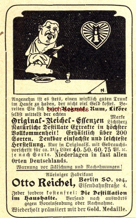 Werbe-Anzeige / Werbung/Reklame Original-Reichel-Essenzen - Otto Reichel, Eisenbahnstr. 4, Berlin (DK03)
