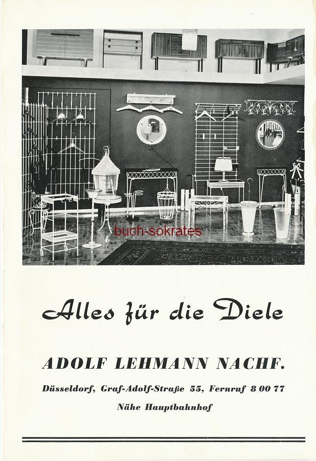 Werbe-Anzeige / Werbung/Reklame Adolf Lehmann Nachf. - Alles für die Diele - Adolf Lehmann Nachf., Düsseldorf, Graf-Adolf-Straße 55 (SE64)