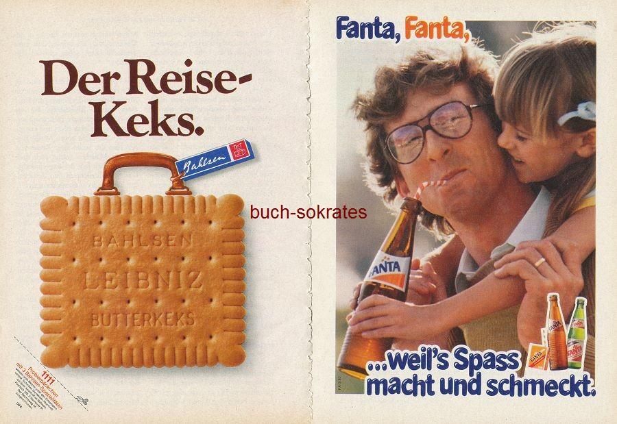 Werbe-Anzeige / Werbung/Reklame Konvolut 80er Jahre Werbung: Bahlsen, Fanta, Migränin, Apolinaris, Knorr (RD81/8/82/7)