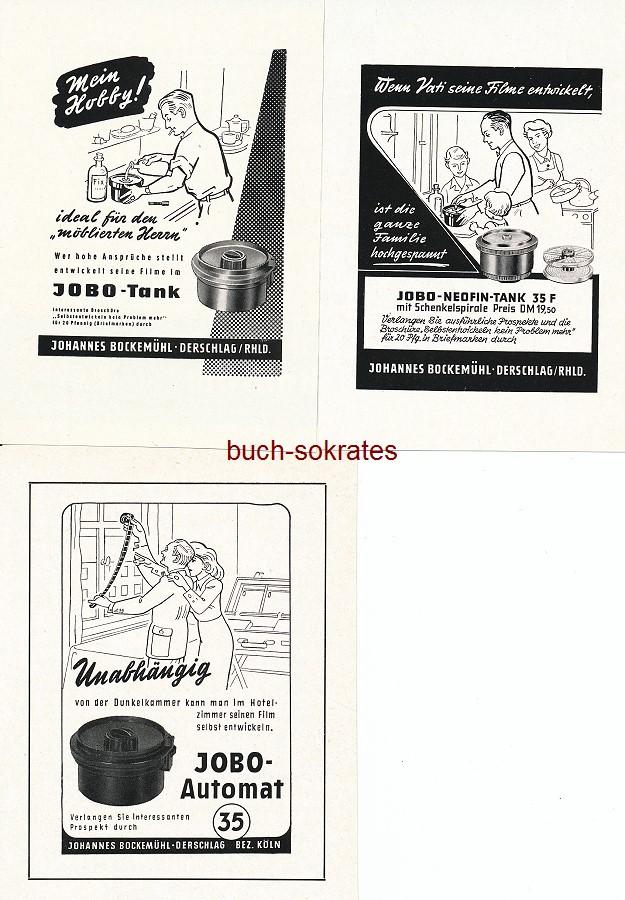 Werbe-Anzeige / Werbung/Reklame JOBO Entwicklungstank / Entwicklungsdose - Johannes Bockemühl, Derschlag (LF60/1/3/55/6)