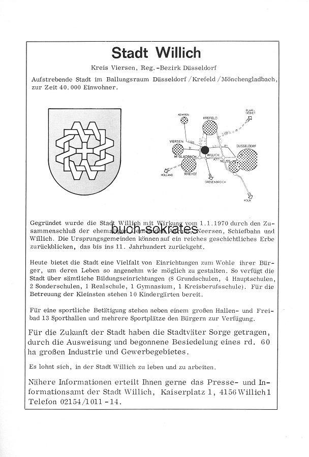Werbe-Anzeige / Werbung/Reklame Stadt Willich - Stadtwerbung / Stadtmarketing (SP78)