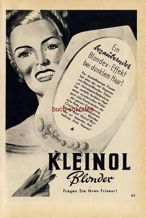 Werbe-Anzeige / Werbung/Reklame Kleinol Blondex (RD48/12)