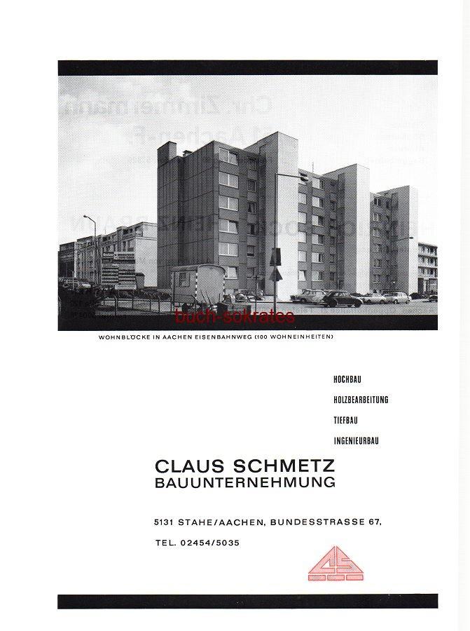 Werbe-Anzeige / Werbung/Reklame Claus Schmetz Bauunternehmung - 5131 Stahe / Aachen, Bundesstraße 67 (SP70)