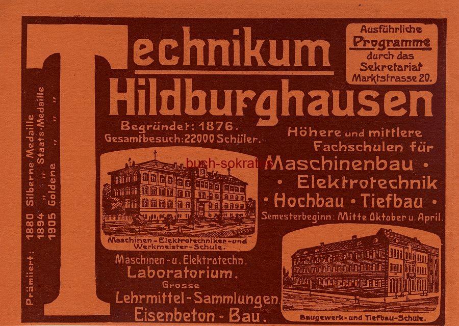 Werbe-Anzeige / Werbung/Reklame Technikum Hildburghausen (DW09/29)