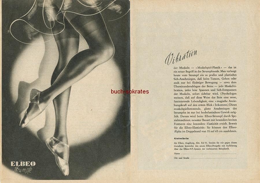 Werbe-Anzeige / Werbung/Reklame Elbeo Damen-Strümpfe - Vibration der Muskeln - Muskelspiel-Plastik (RD0952)