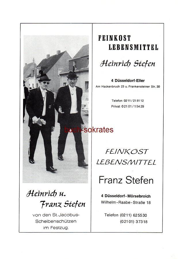 Werbe-Anzeige / Werbung/Reklame Feinkost Heinrich u. Franz Stefen - Fotos vom Schützenfest (SP78)