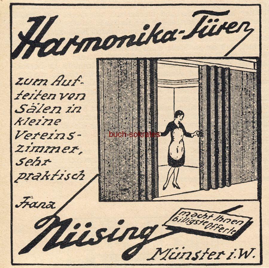 Werbe-Anzeige / Werbung/Reklame Nüsing Harmonika-Türen - Franz Nüsing, Münster i.W. (BG30/22)