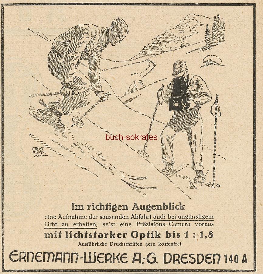 Werbe-Anzeige / Werbung/Reklame Ernemann Präzisions-Camera - Ernemann-Werke AG, Dresden (BI26/3)