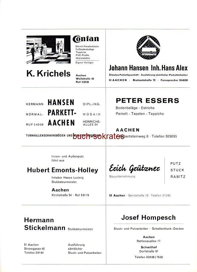 Bodenbeläge Aachen buchversand sokrates annonce o a anzeige werbung reklame h