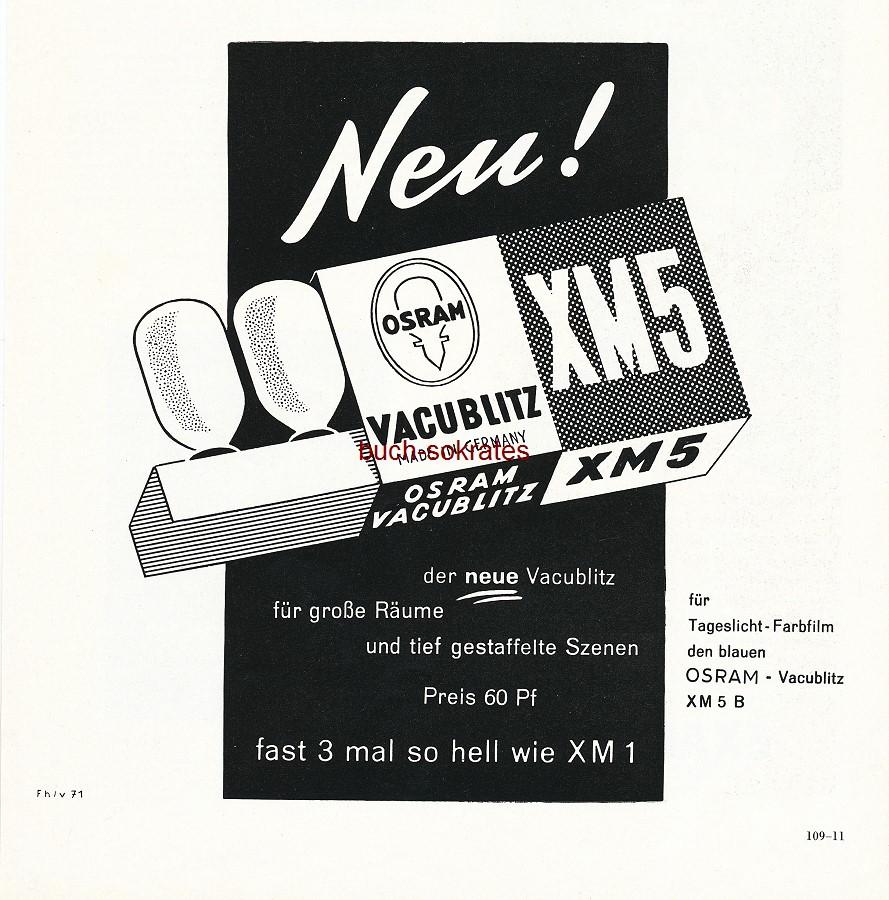 Werbe-Anzeige / Werbung/Reklame Osram Vacublitz XM5 - Neu! Der neue Vacublitz. (PM56/11)