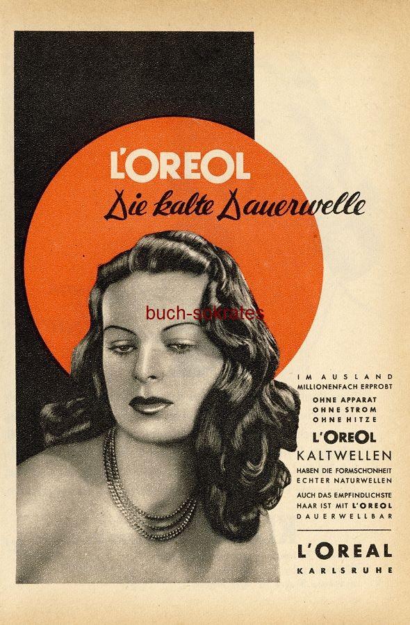 Werbe-Anzeige / Werbung/Reklame L Oreol - Die kalte Dauerwelle - L Oreal, Karlsruhe (RD48/11)