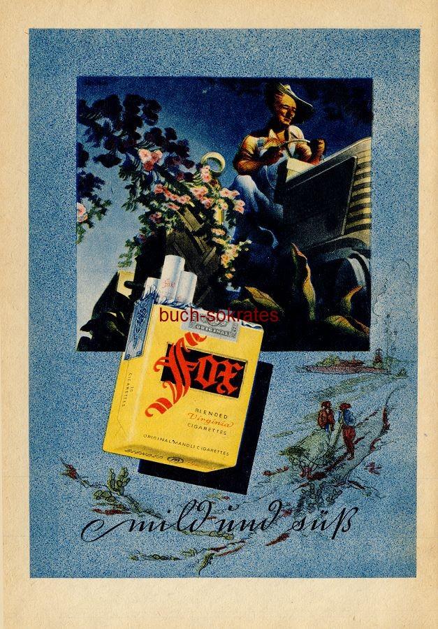 Werbe-Anzeige / Werbung/Reklame Fox Zigaretten (RD49/07)