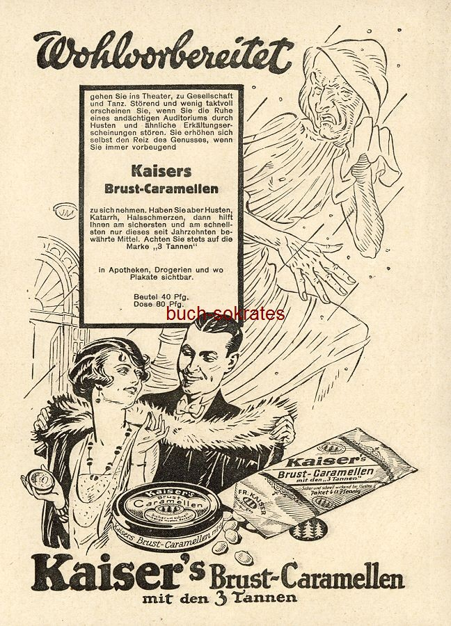 Werbe-Anzeige / Werbung/Reklame Kaiser s Brust-Caramellen (BI28/39)