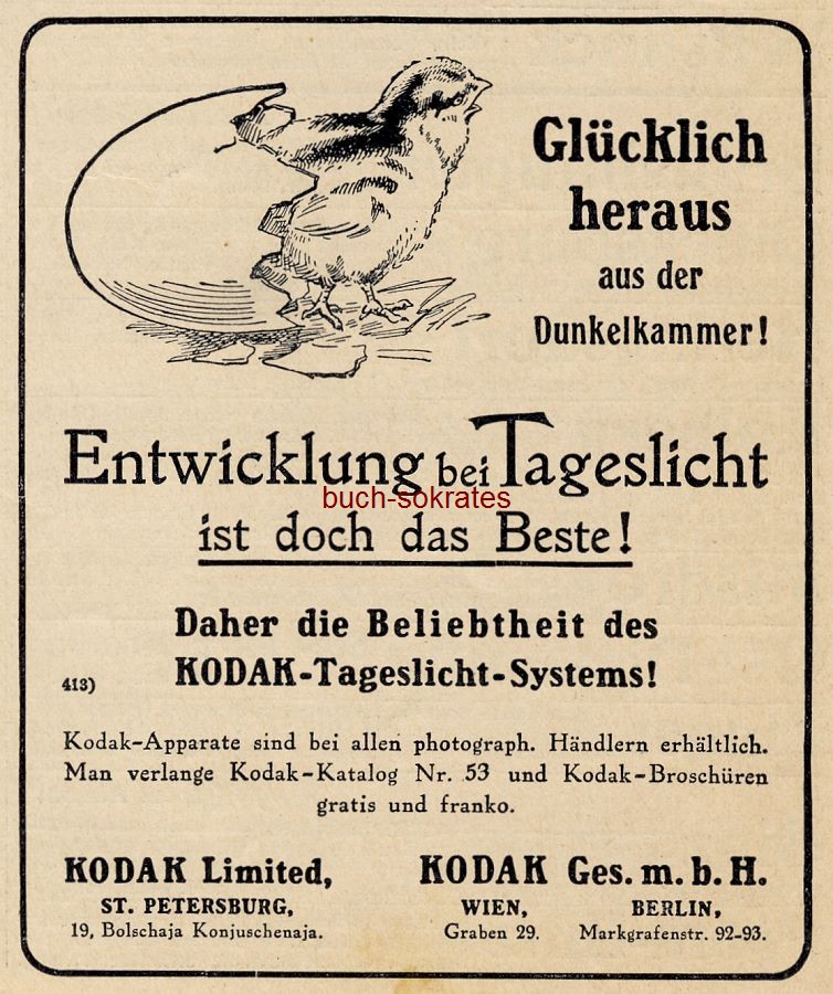 Werbe-Anzeige / Werbung/Reklame Kodak Film - Kodak Ges.mbH, Wien (DW11/14)